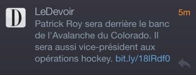Le Devoir, 23 mai 2013
