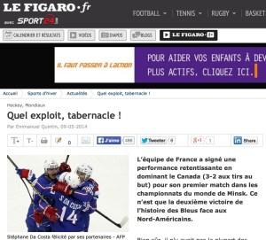 Le Figaro, 9 mai 2014