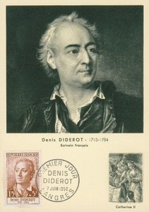 Denis Diderot, carte postale