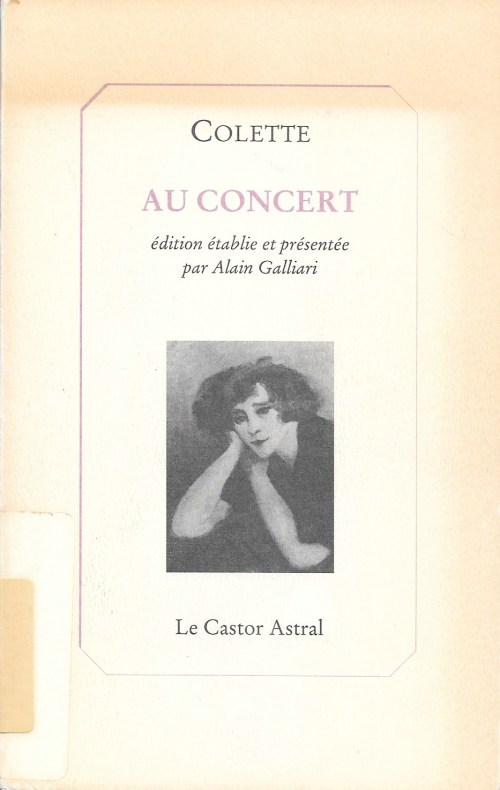 Colette, Au concert, 1992, couverture