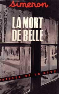 Simenon, la Mort de Belle, 1952, couverture