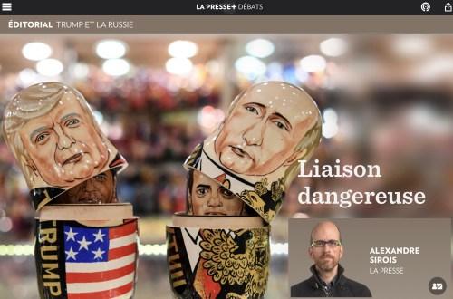 «Liaison dangereuse», la Presse+, 13 juillet 2017