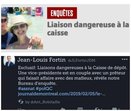 Liaison(s) dangereuse(s) dans le Journal de Montréal