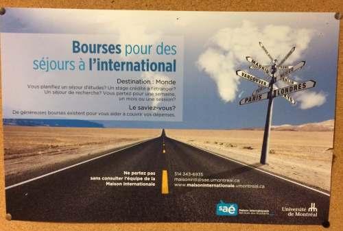 L'Université de Montréal offre des bourses à l'international