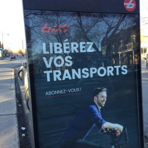 Bixi, les vélos en libre-service de Montréal, publicité, 2016