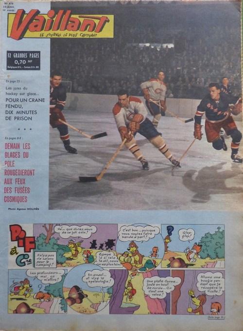 Journal Vaillant, 870, 14 janvier 1962, couverture