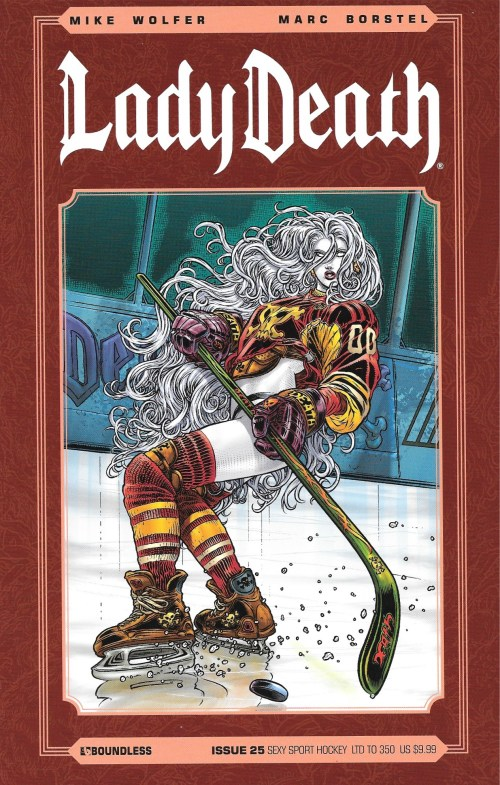 Lady Death, janvier 2013. Issue 25 : «Sexy Sport Hockey».