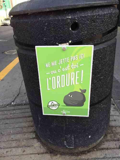 Panneau publicitaire, rue Wellington, Verdun, 7 juillet 2016