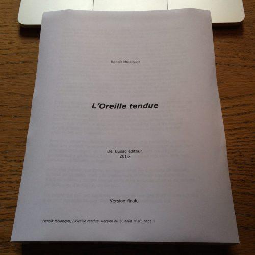 L'Oreille tendue, manuscrit, troisième version