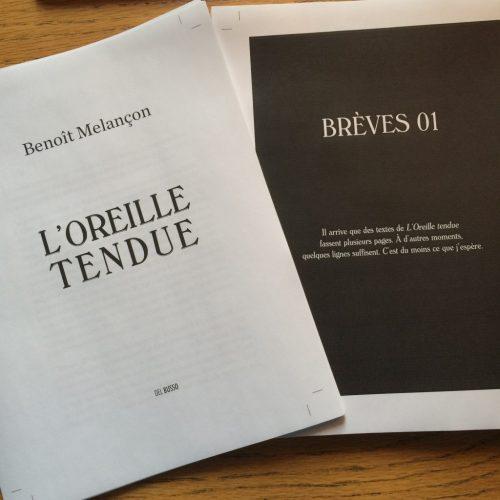 Les premières épreuves du prochain livre de l'Oreille tendue