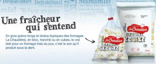 Le fromage «Skouik ! Skouik !» de la fromagerie La Chaudière