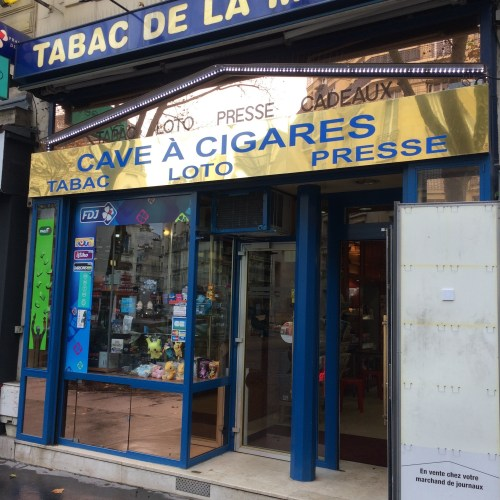 Cave à cigares, avenue du Maine, Paris, novembre 2016