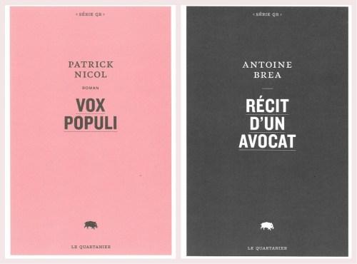 Antoine Brea et Patrick Nicol, couvertures