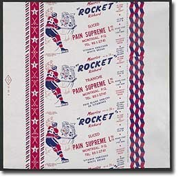 Pain Maurice «Rocket» Richard, emballage
