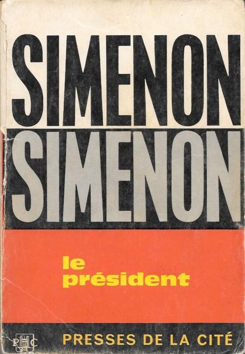 Georges Simenon, le Président, 1965, couverture