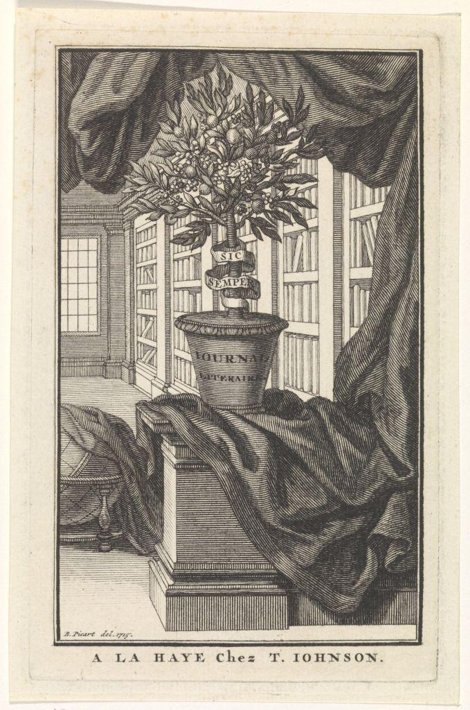 Page de titre du Journal litéraire, 1715