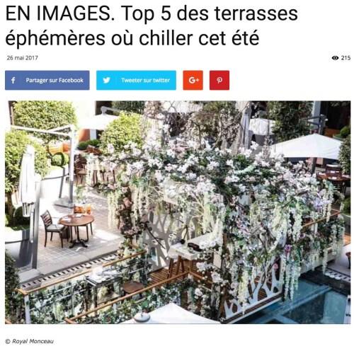 «Top 5 des terrasses éphémères où chiller cet été», Vivre Paris, 26 mai 2017