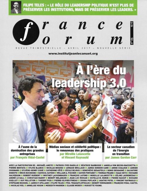 France Forum, 67, avril 2017, couverture
