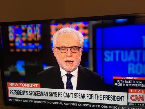 «Le porte-parole du président dit qu'il ne peut pas parler pour le président.»