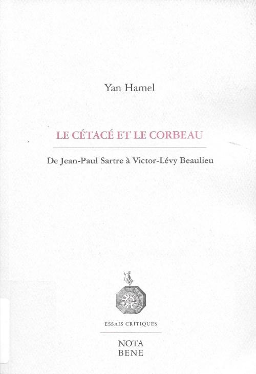 Yan Hamel, le Cétacé et le corbeau, 2016, couverture