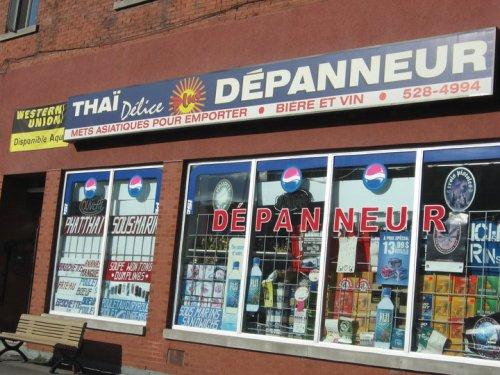 Tha ï Délice Dépanneur, Montréal, affiche