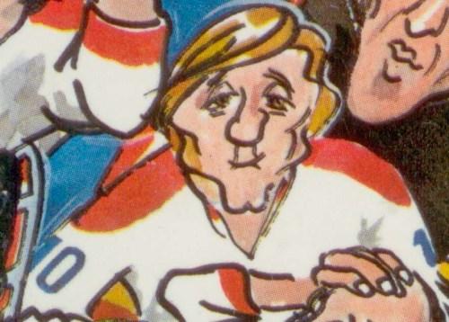 Arsène et Girerd, les Enquêtes de Berri et Demontigny. On a volé la coupe Stanley, 1975, détail de la couverture