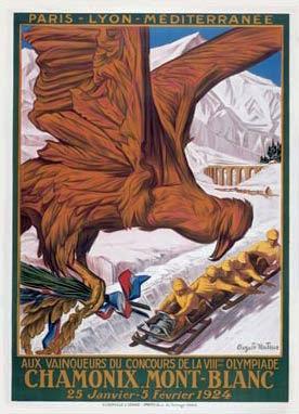 Affiche des Jeux olympiques d'hiver, 1924