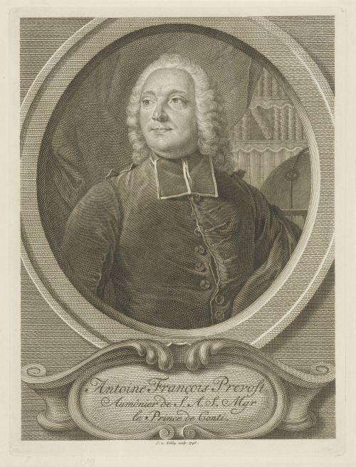 Portrait d'Antoine François Prévost, gravure de Jacob van der Schley