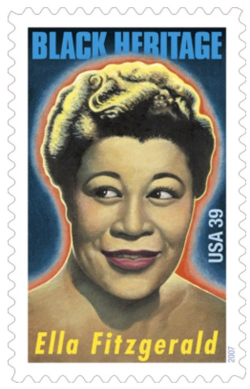Ella Fitzgerald, timbre-poste, États-Unis, 2007