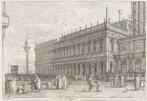 Canaletto, Bibliothèque Marciana (Venise), 1707-1768