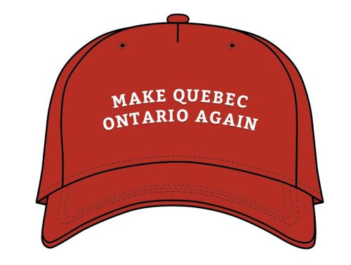 Casquette «Make Québec Ontario Again»