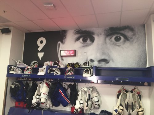 Photo de Maurice Richard, vestiaire du Rocket de Laval, 2018