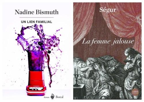 Un lien familial (2018) et la Femme jalouse (1790 / 2015), couvertures