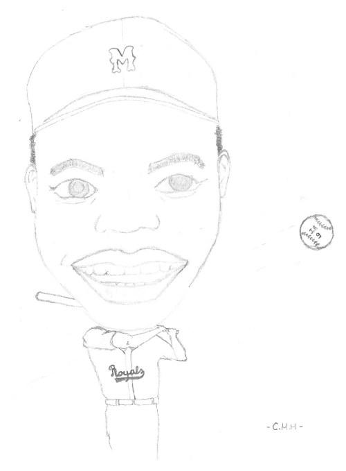 Portrait de Jackie Robinson par Charles Malo Melançon
