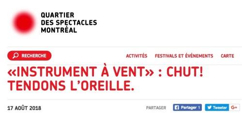 «Chut ! Tendons l'oreille», publicité du Quartier des spectacles de Montréal