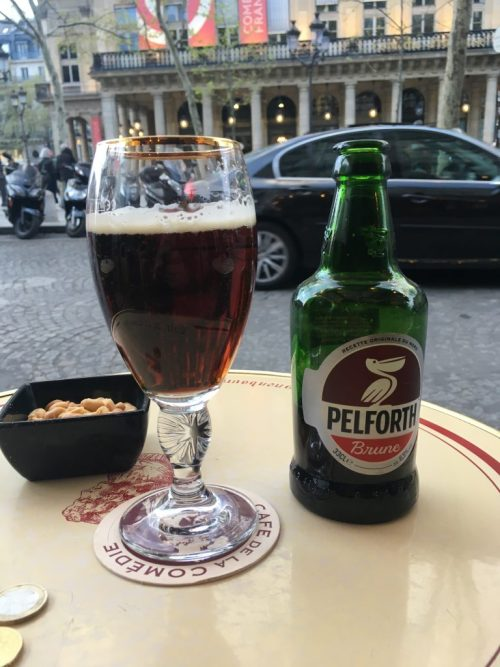 Pelforth brune, Café de la Comédie, Paris, avril 2019