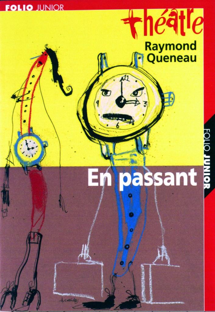 Raymond Queneau, En passant, éd. de 2000, couverture
