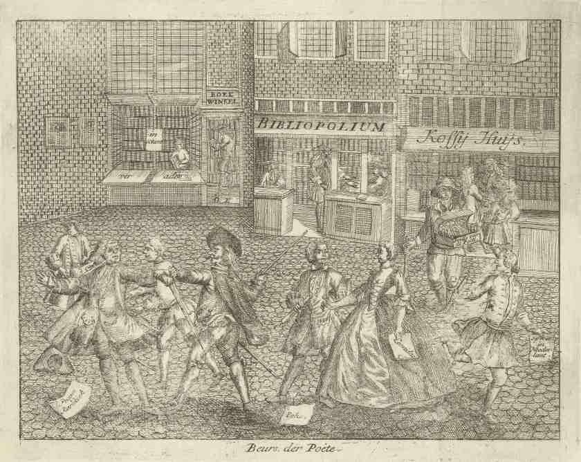 Foire de poésie, gravure anonyme, 1742