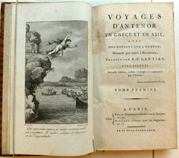 Étienne-François de Lantier, Voyage d'Anténor en Grèce et en Asie, page de titre