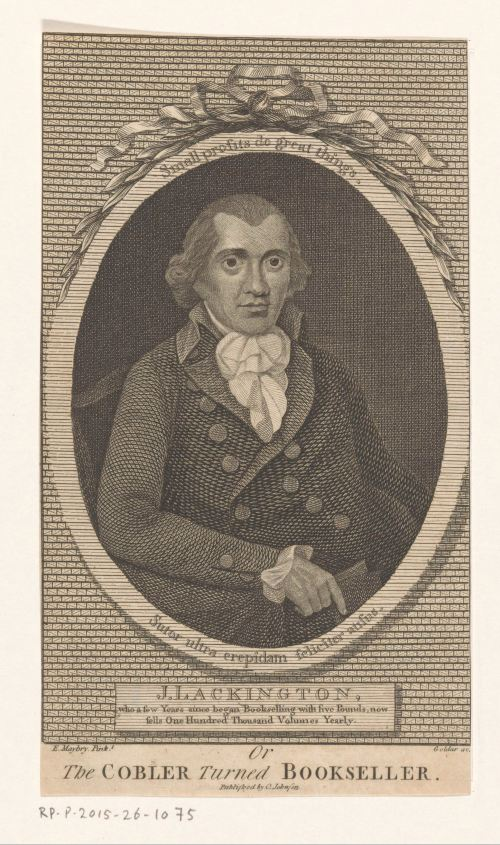 Portrait du libraire James Lackington, gravure de John Goldar