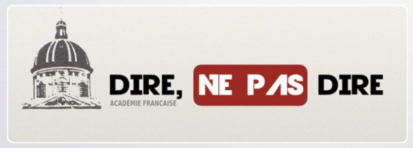 Académie française, rubrique «Dire, ne pas dire», logo