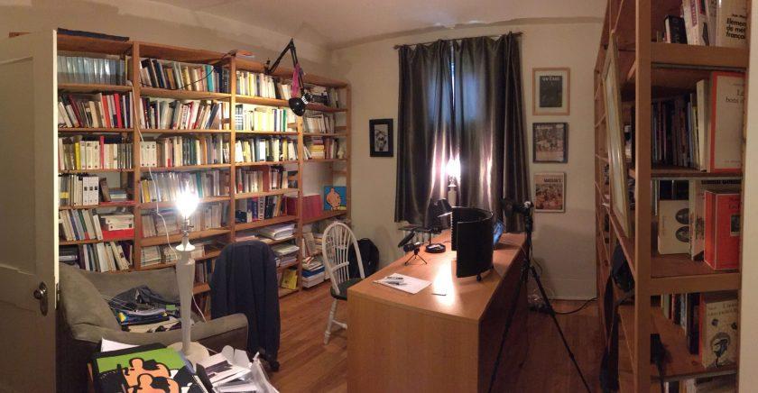 Studio vidéo maison, Montréal, 30 mai 2020
