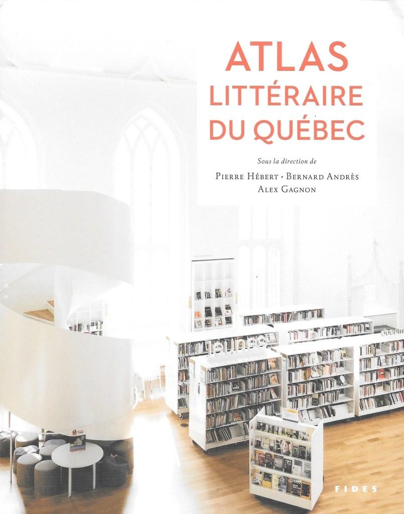 Atlas littéraire du Québec, 2020, couverture