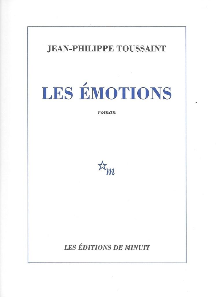 Jean-Philippe Toussaint, les Émotions, 2020, couverture