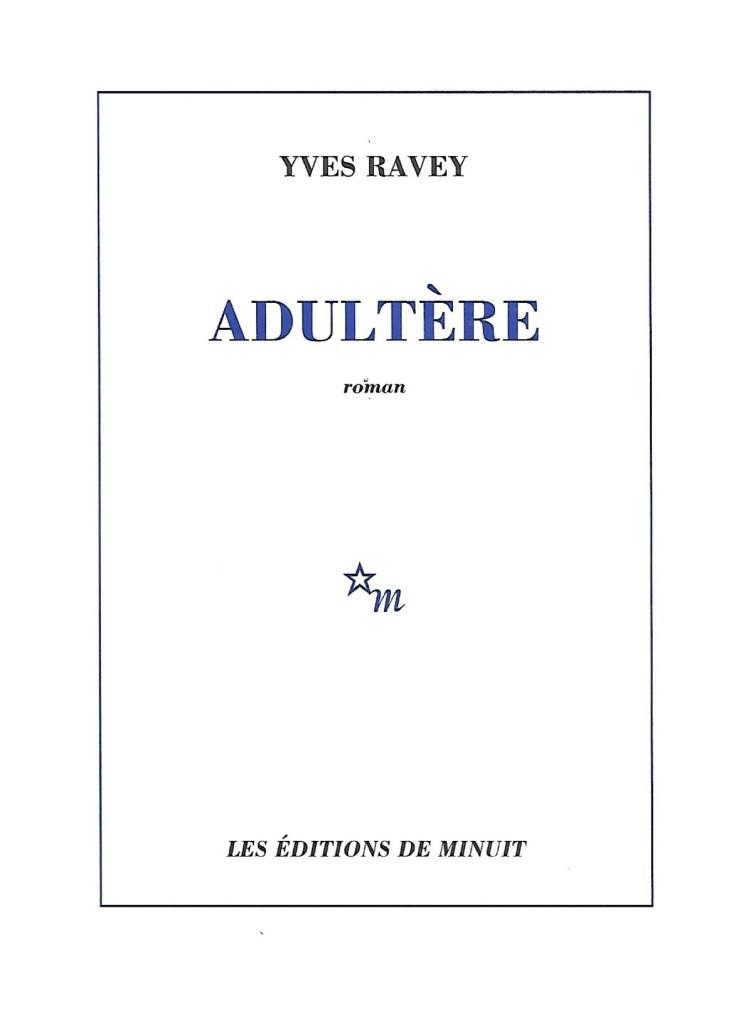 Yves Ravey, Adultère, 2021, couverture