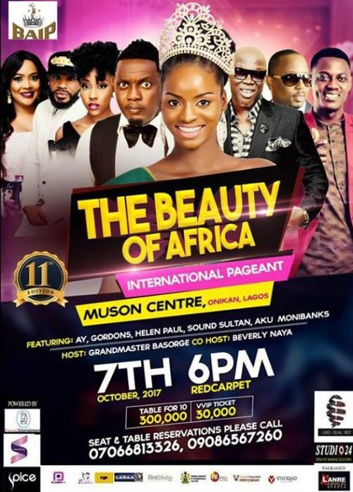The Beauty of Africa International Pageant BAIP 2017