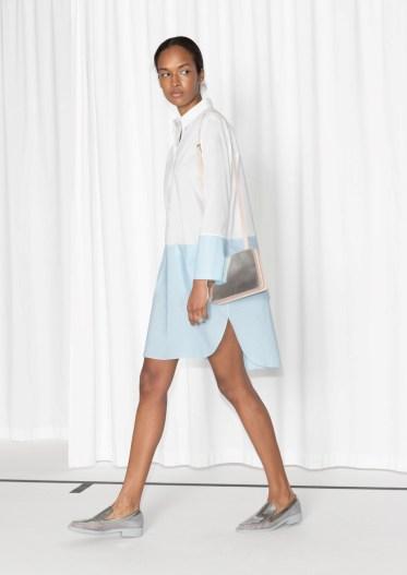 Colour block robe chemise 75