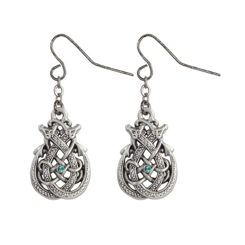 Celtic Interlace Knot Work Polished Silver Tone Elegant