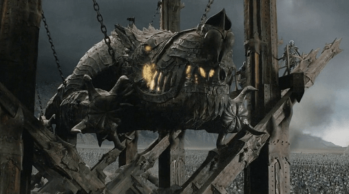 Grond battering ram. Intermission here lets reminds you that you're only halfway done, even with the theatrical edition