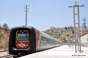IC3 DMU 7203 at Jerusalem-Malha May 18, 2012